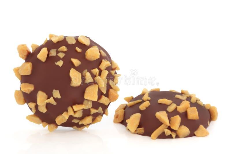 饼干巧克力蜂窝 库存图片