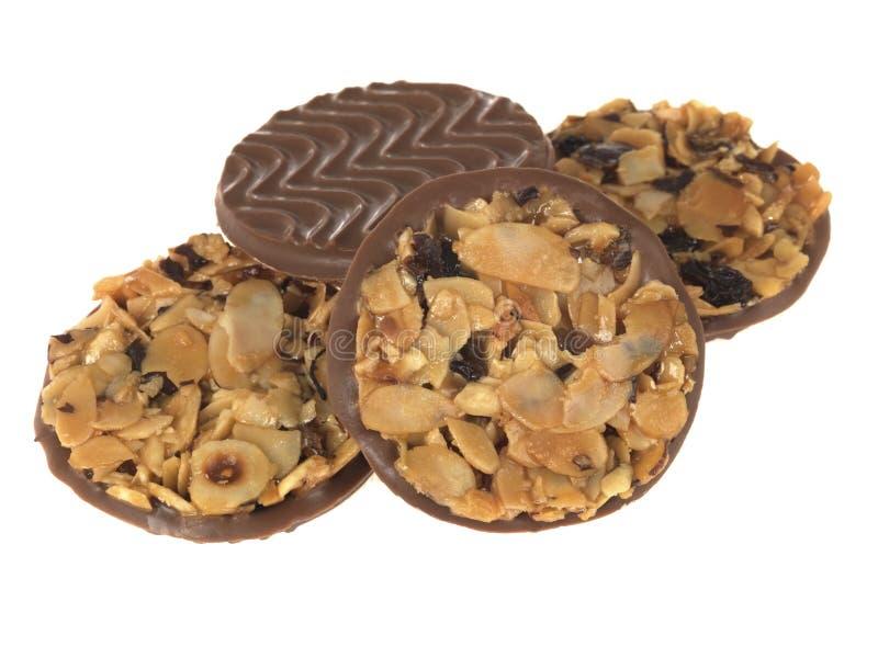 饼干巧克力florentines牛奶 免版税库存图片