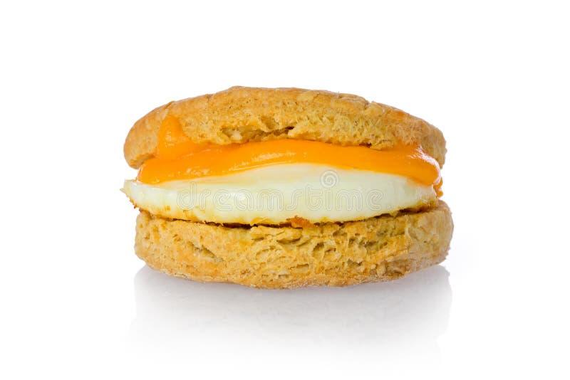 饼干干酪鸡蛋 免版税库存照片