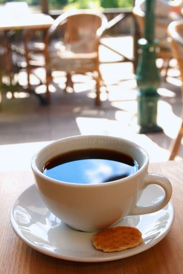 饼干无奶咖啡杯子 免版税库存照片