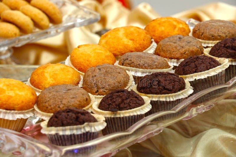 饼干曲奇饼品种在盘子的 可口沙漠选择 2017年7月-21 免版税库存照片