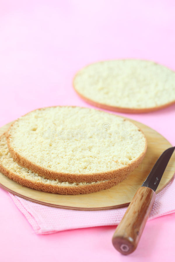 饼干松糕三层数  免版税图库摄影