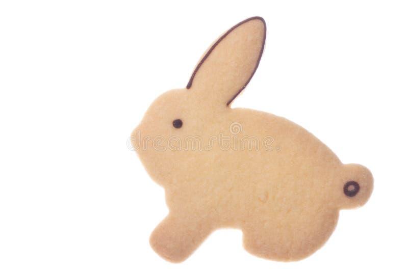 饼干查出被塑造的兔子 库存照片