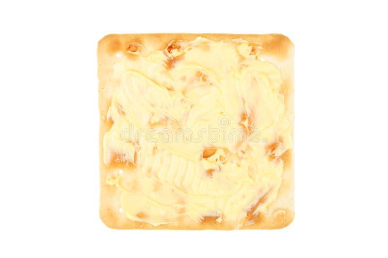饼干涂奶油的干酪 库存照片