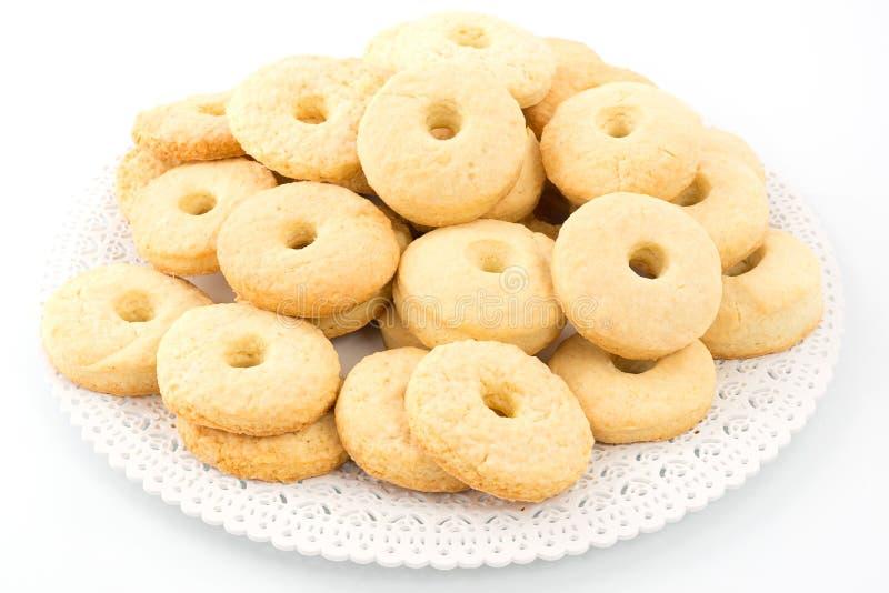 饼干用奶油色牛奶 库存照片