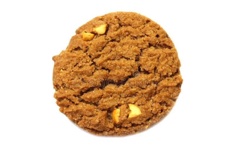 饼干用巧克力片黄油、调味的腰果和蜂蜜 图库摄影