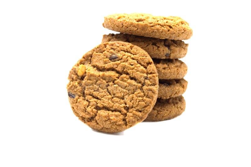 饼干用巧克力片黄油 免版税图库摄影
