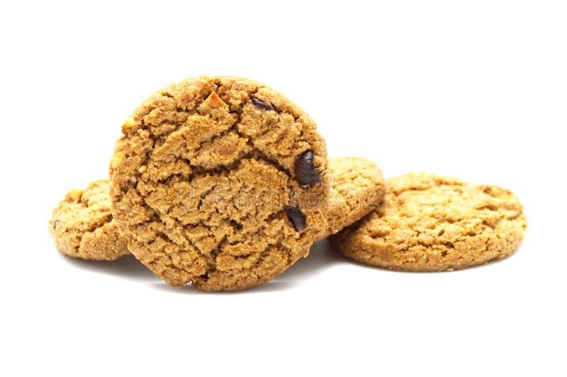饼干用巧克力片黄油 库存图片