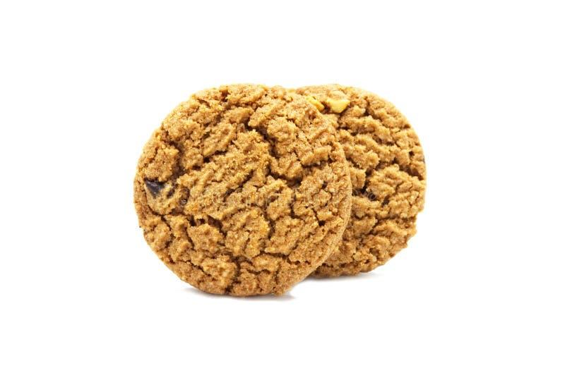 饼干用巧克力片黄油 库存照片