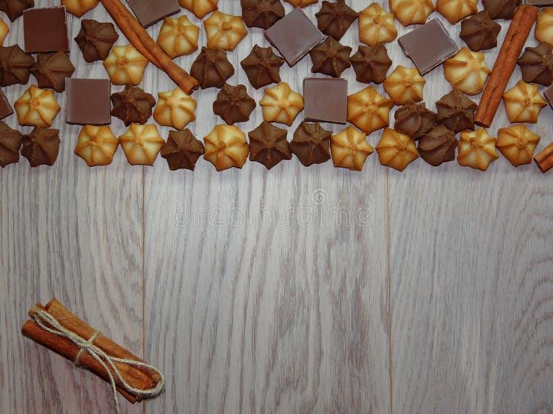 饼干的背景 免版税库存照片