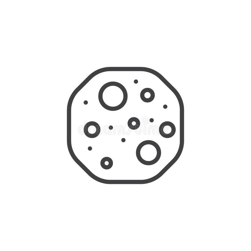 饼干线象,概述传染媒介标志,在白色隔绝的线性样式图表 标志,商标例证图片