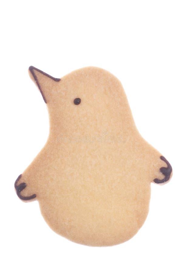 饼干被塑造的查出的企鹅 库存图片