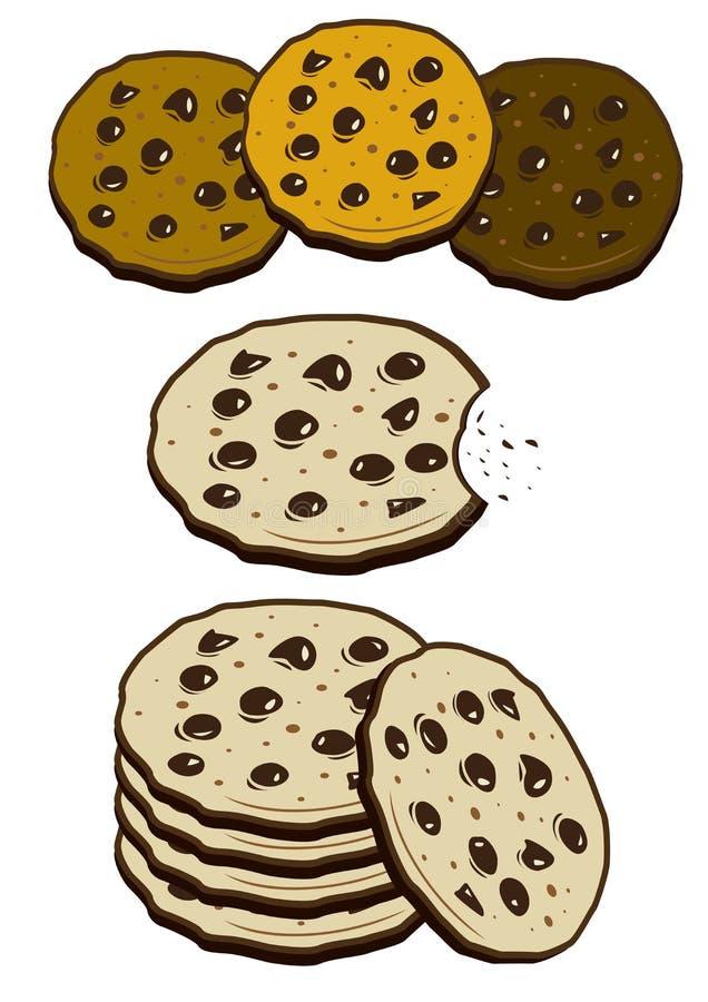 饼干近曲奇饼现有量 向量例证