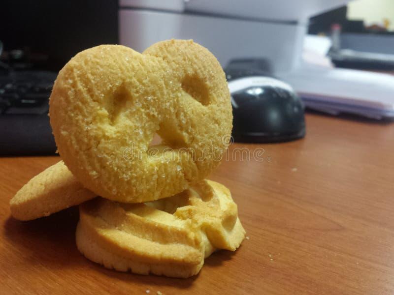 饼干selfie 免版税库存图片