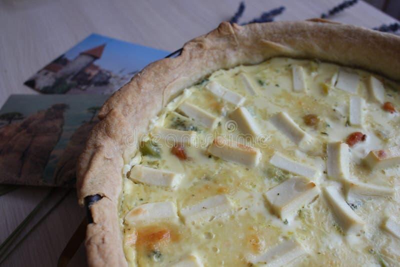 饼用乳酪和蘑菇 库存图片