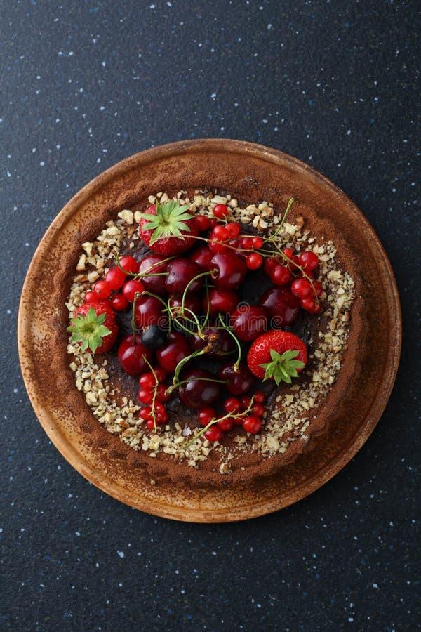 饼用新鲜的樱桃 免版税图库摄影
