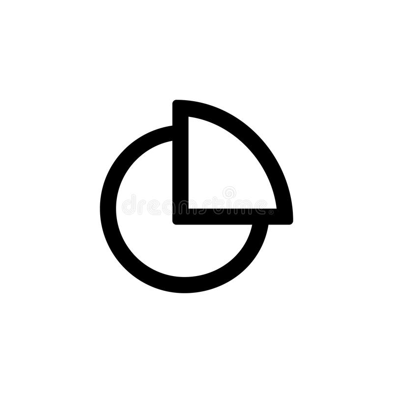 饼简单的平的样式ui设计的diagramm象 向量例证