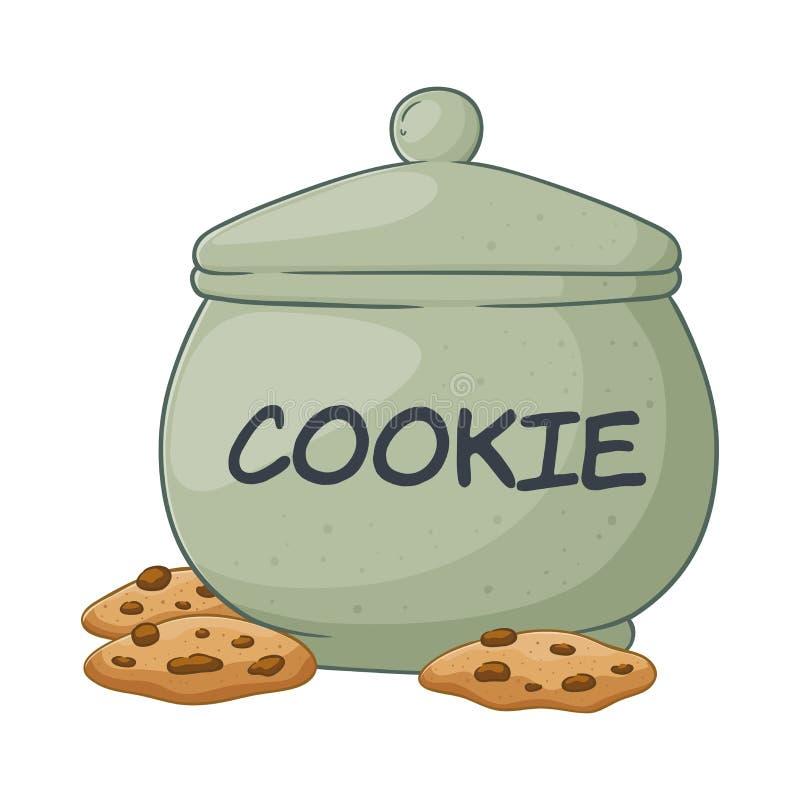 饼罐的传染媒介例证 皇族释放例证