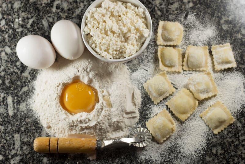 馄饨意大利人食物 免版税库存图片