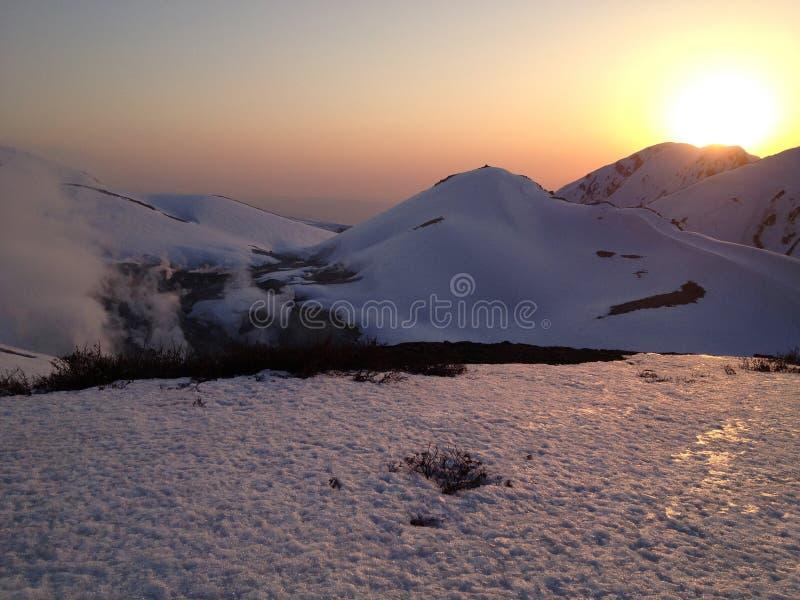 馆山Kurobe高山路线(日本阿尔卑斯),富山市 免版税库存图片