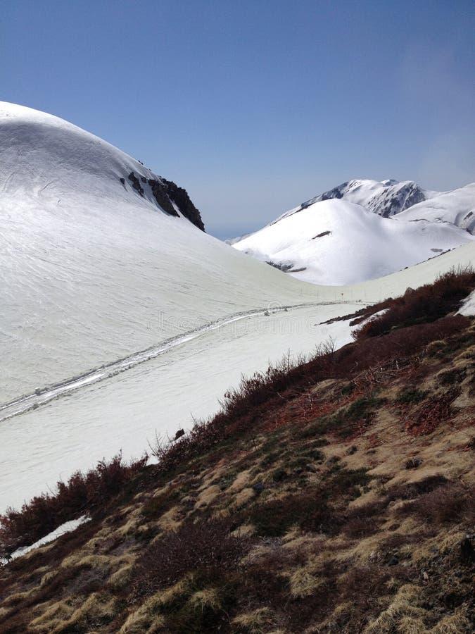 馆山Kurobe高山路线(日本阿尔卑斯),富山市 免版税图库摄影