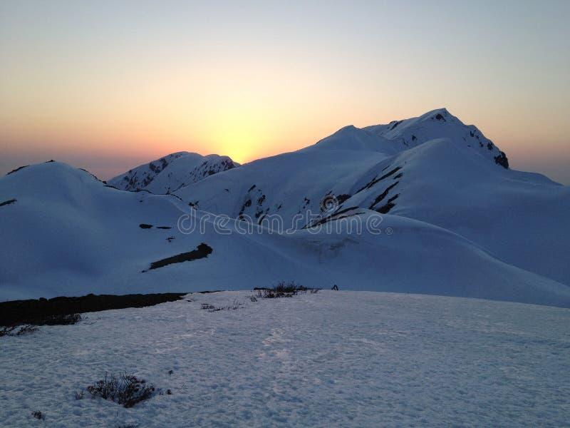 馆山Kurobe高山路线(日本阿尔卑斯),富山,日本 库存照片