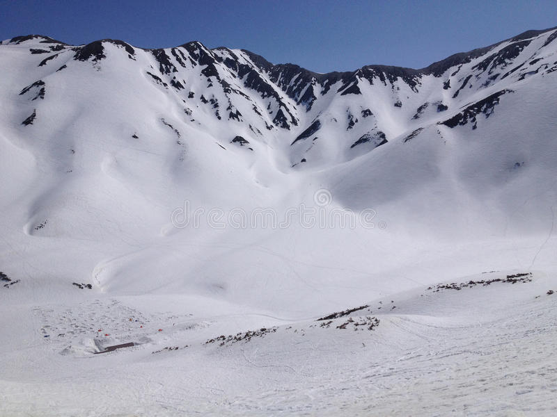馆山Kurobe高山路线(日本阿尔卑斯),富山,日本 免版税库存图片