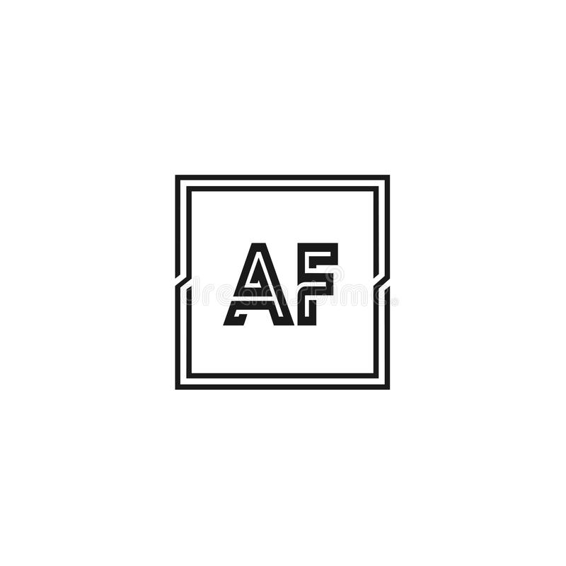 首写字母AF商标模板传染媒介设计 向量例证