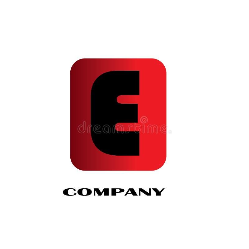 首写字母E连接的设计商标-传染媒介 向量例证