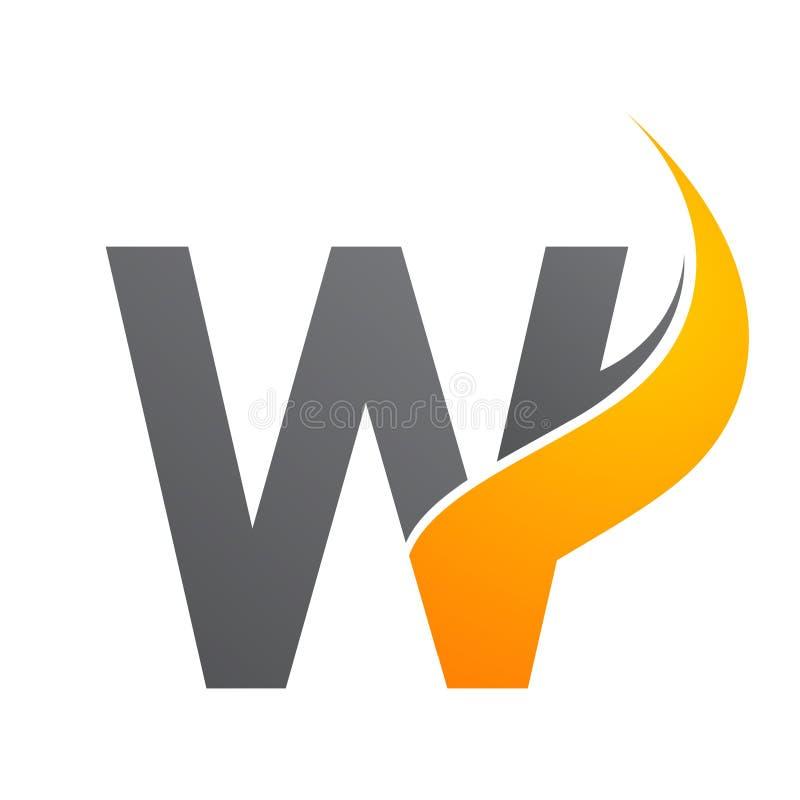 首写字母W阳光构思设计 E 向量例证