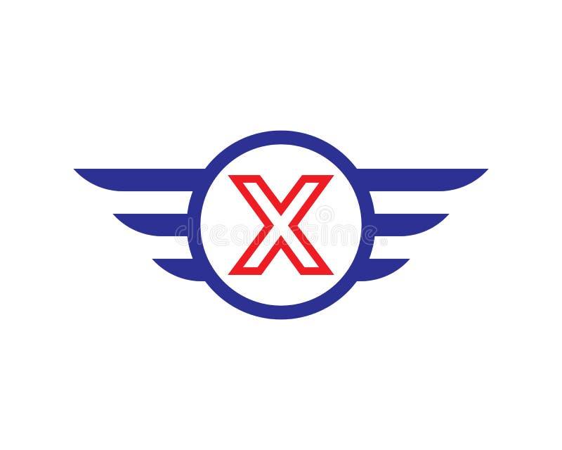 首写字母x翼商标模板 皇族释放例证