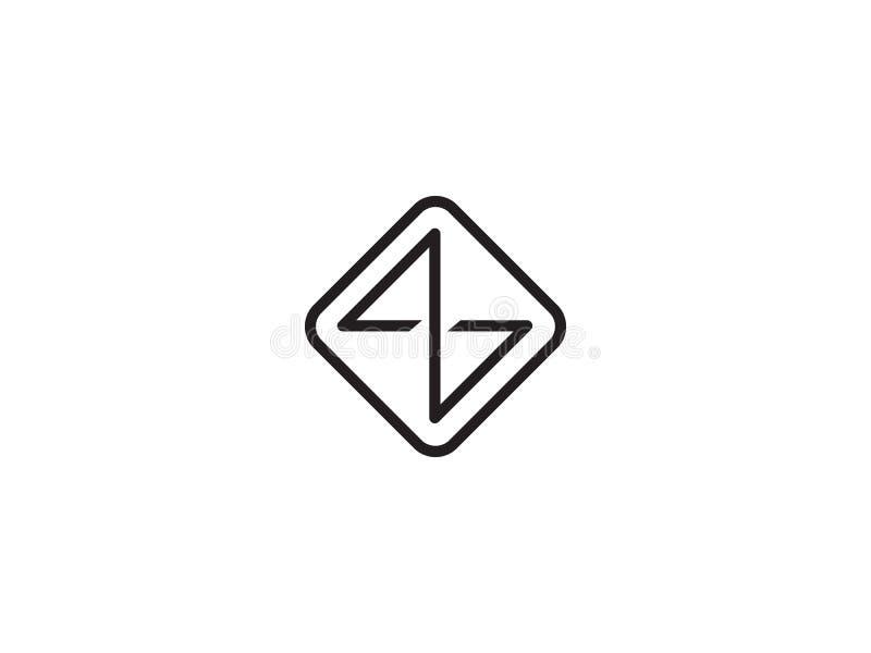 首写字母Z商标模板 公司的字母表标志 库存例证
