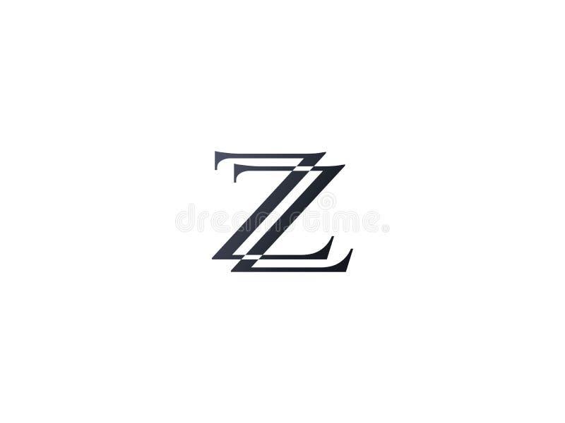 首写字母Z商标模板 公司的字母表标志 向量例证