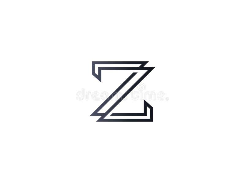 首写字母Z商标模板 公司的字母表标志 皇族释放例证