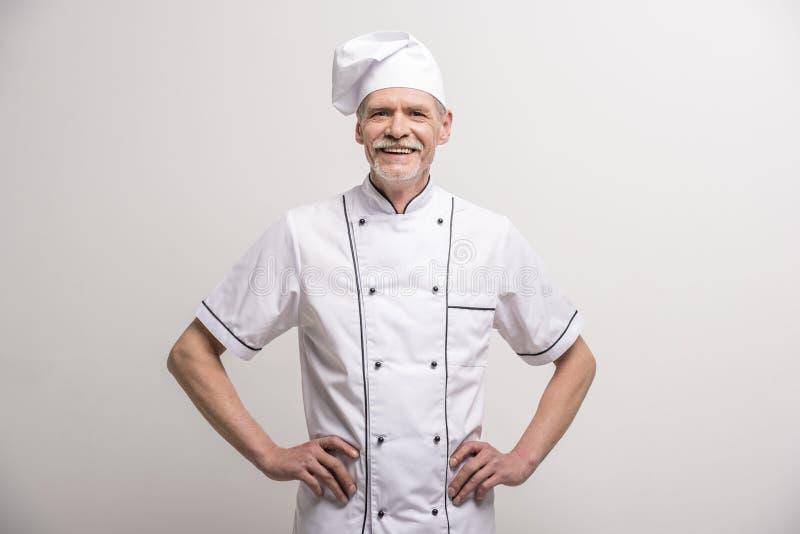 首要厨师查出的白色 免版税库存图片