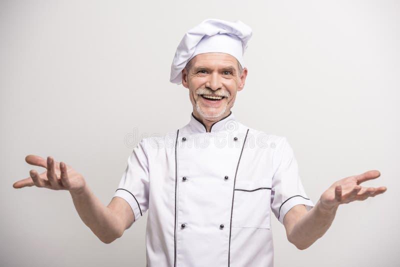 首要厨师查出的白色 库存图片