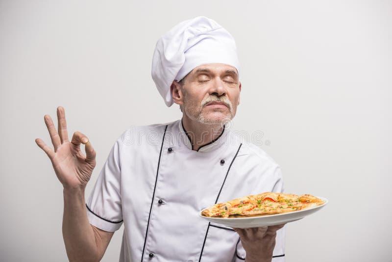 首要厨师查出的白色 免版税库存照片