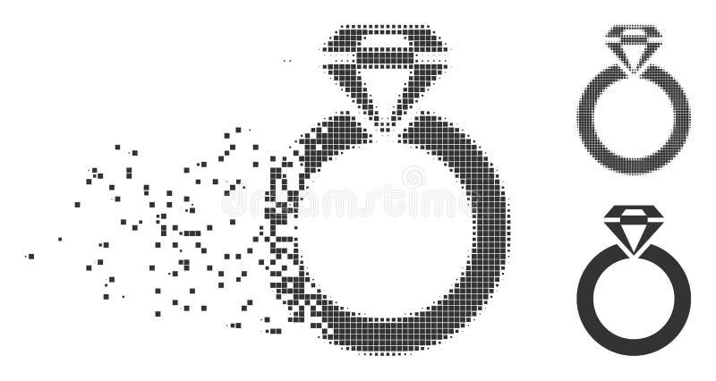 首饰圆环被分解的映象点中间影调象 库存例证