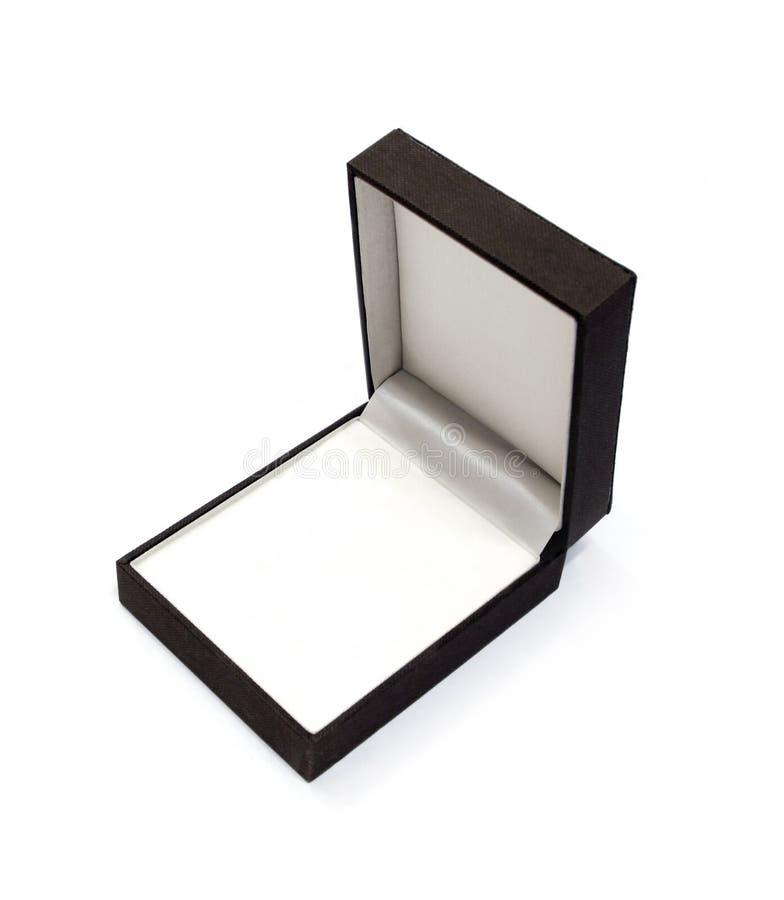首饰的箱子反对白色背景 免版税库存图片