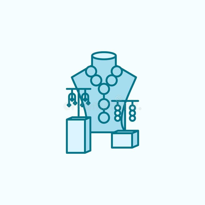 首饰2种族分界线象销售  简单的色素例证 首饰概述从购物中心的标志设计销售  皇族释放例证