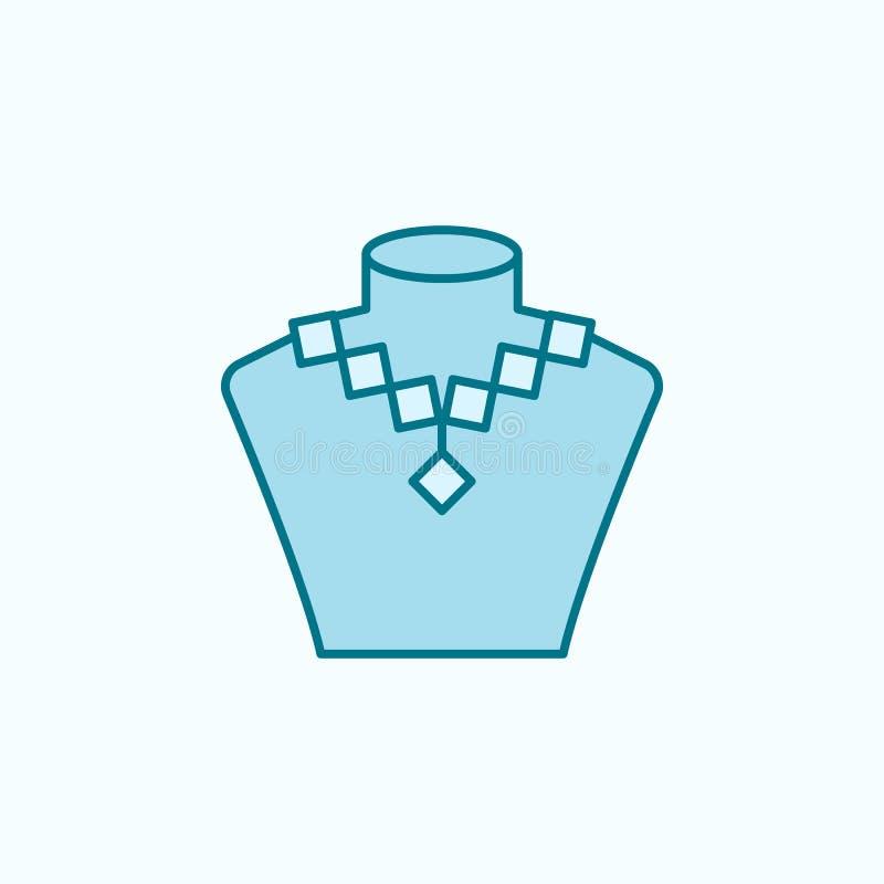 首饰2种族分界线象销售  简单的色素例证 首饰概述从购物中心的标志设计销售  库存例证