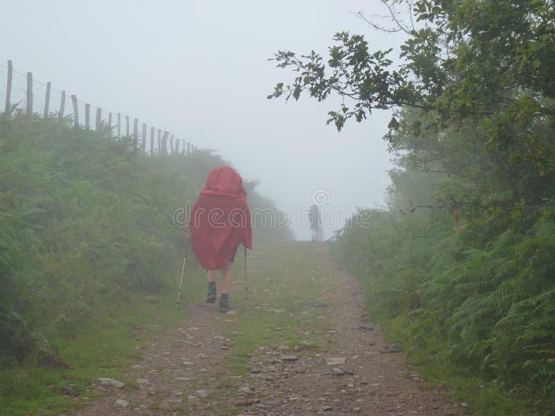 香客圣詹姆斯 走在Camino de圣地亚哥的人们 库存照片