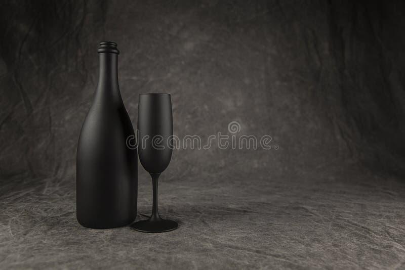 香宾瓶和长笛 库存图片