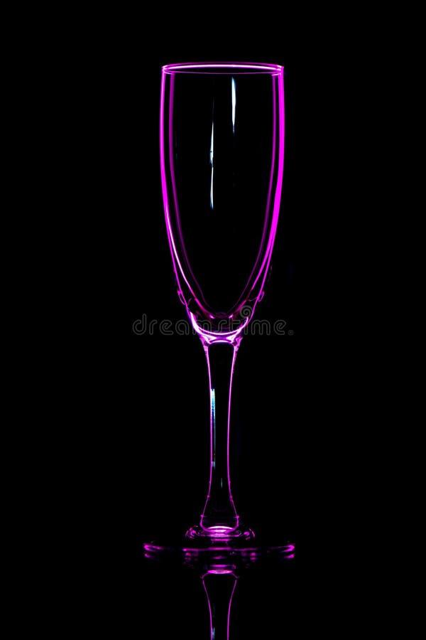 香宾玻璃桃红色 图库摄影
