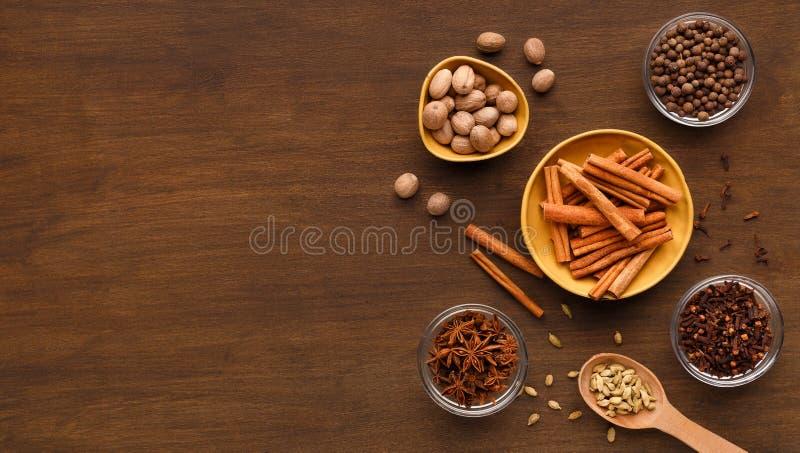 香料冬天汇集概念 库存图片