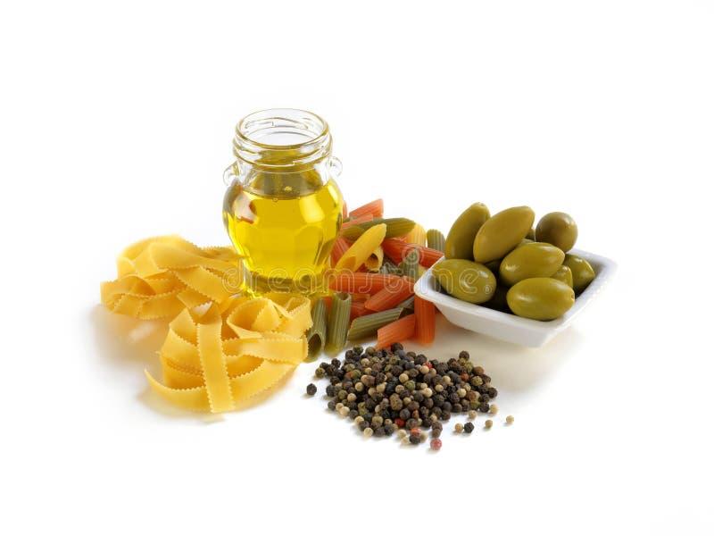 香料和意大利面食 免版税库存图片