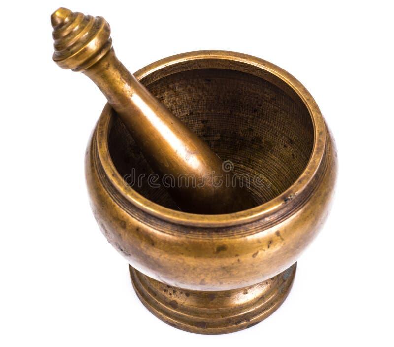 香料的铜灰浆 免版税库存照片