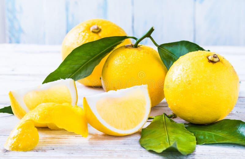 香柠檬从南意大利的柑桔 免版税库存图片