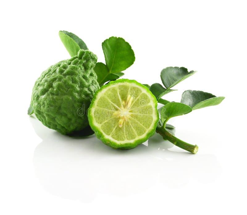 香柠檬白色背景 免版税库存照片