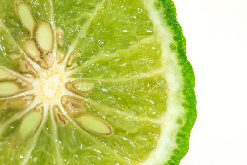香柠檬被隔绝的白色背景 免版税库存照片